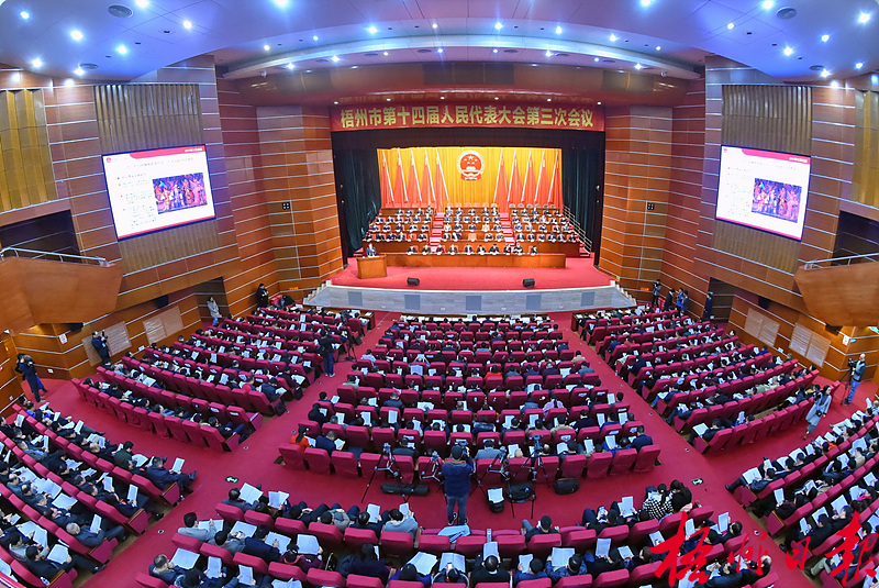 市第十四届人民代表大会第三次会议开幕