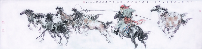 一任横空天马去(中国画)