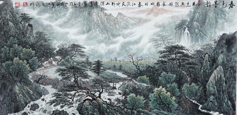 春色墨韵(中国画)