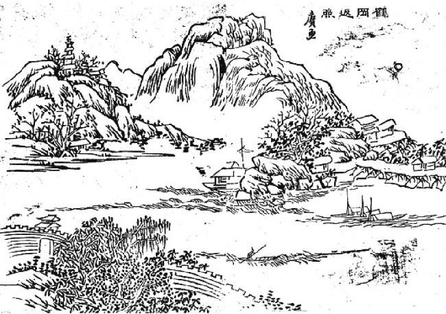 梧州标志性建筑简笔画