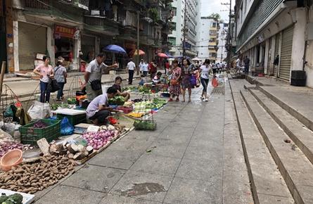 新兴市场设农民直销区 在规定时段区域摆卖
