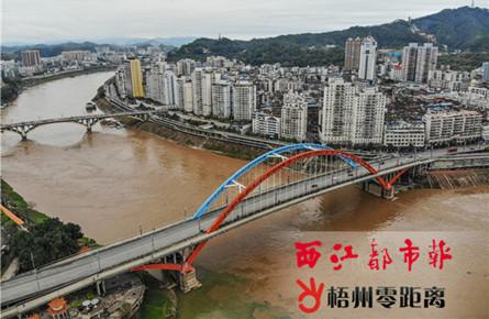 桂江西江梧州段水位上涨