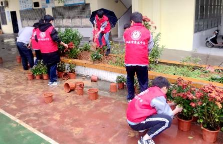 校园植树种花