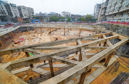市工人医院门诊住院综合楼项目加紧推进