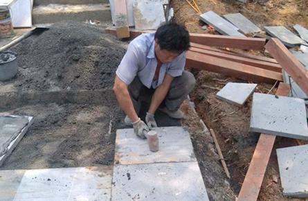 修缮塔身美化景观 炳蔚塔提升工程稳步推进