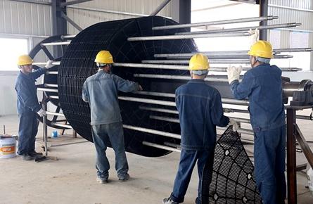 广西博世科苍梧环保设备生产项目设备安装收尾