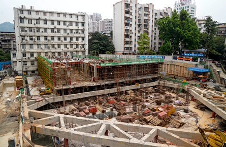 市妇幼保健院业务楼扩建项目施工进展顺利