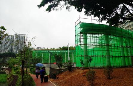 潘塘公园改造广场罗马柱