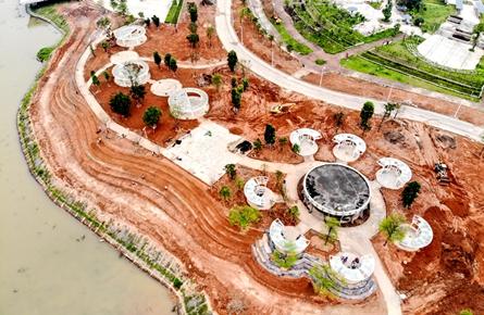 苍海公园又增新景观