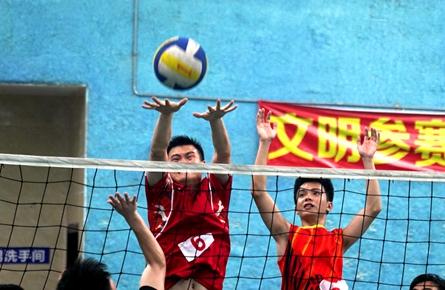梧州市第三十七届青年运动会气排球项目比赛昨日收官