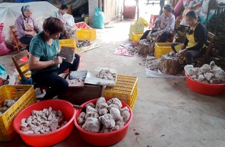 狮寨镇发展扶贫车间助力村民增收