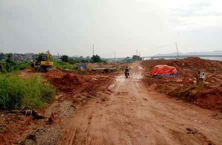 长洲防洪堤南堤西江三桥段破损
