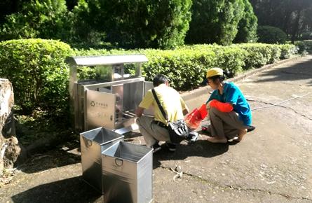 安装垃圾箱