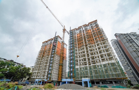 梧州市教师公共租赁房项目建设进入尾声