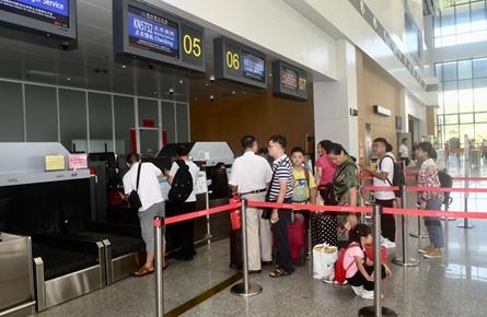 西江机场客流增多