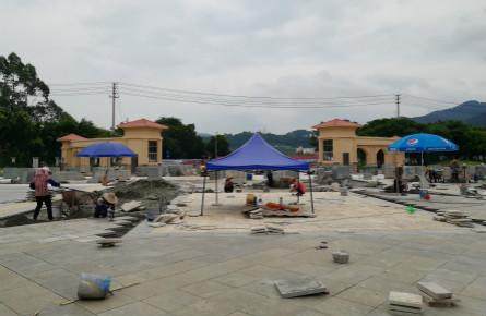 改造梧州学院中心广场
