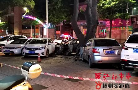 西江三路发生一起交通事故