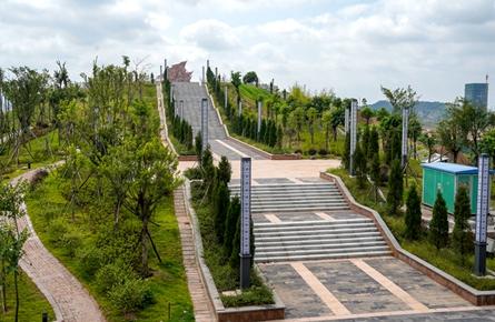 梧州市烈士陵园新园室外建设基本完成