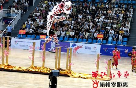 藤县禤洲龙狮团获佳绩