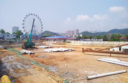 梧州书城项目桩基施工