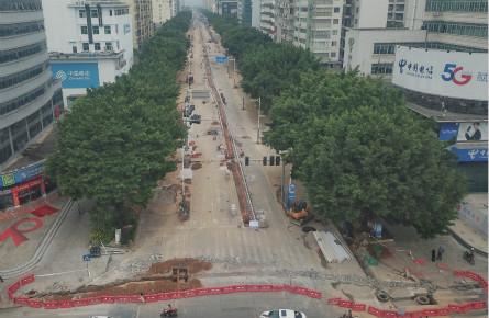 新兴三路围闭施工