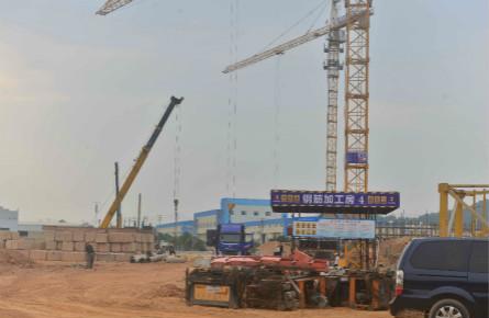 梧州高新区加紧建设厂房