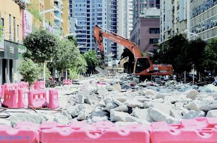 新界步行街商铺全部拆除