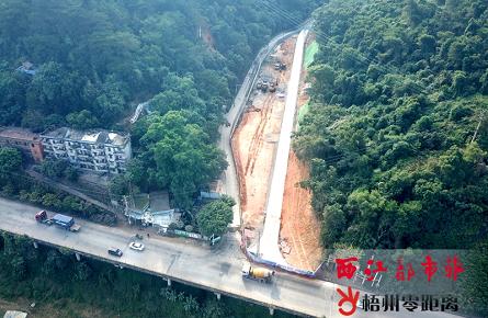 广信森林公园入口新建道路完成路面铺设