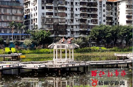 潘塘公园荷花池重建凉亭