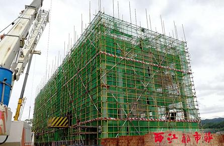 苍梧县第一初级中学建设平稳推进