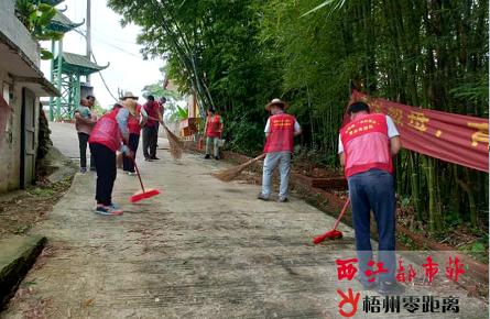 打扫卫生 共同营造宜居农村人居环境
