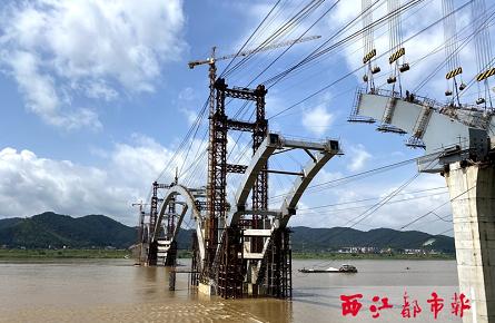 西江梧州市区段水位上涨