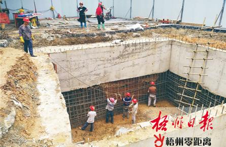 修建沉井护壁