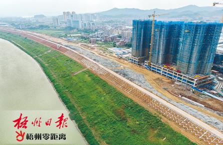 开发两龙片区沿江路段