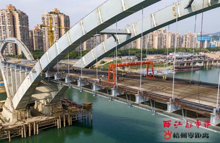 西江四桥加紧施工