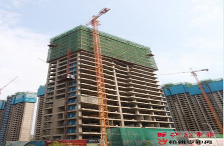 人才乐居项目高层建筑主体完工