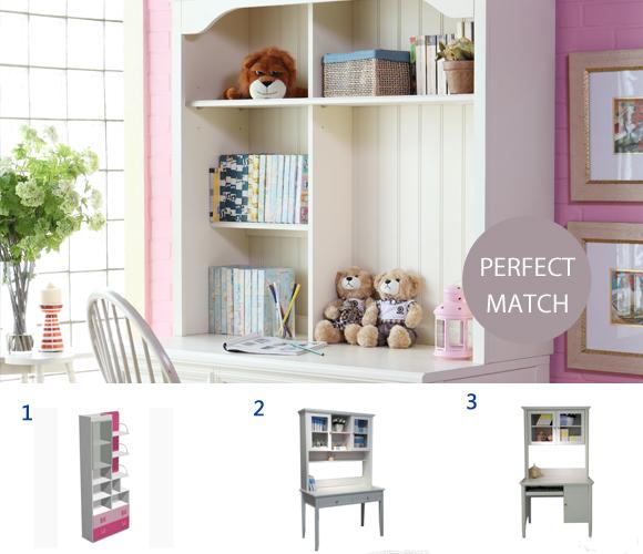 书柜+书桌+椅子 书房搭配的重点