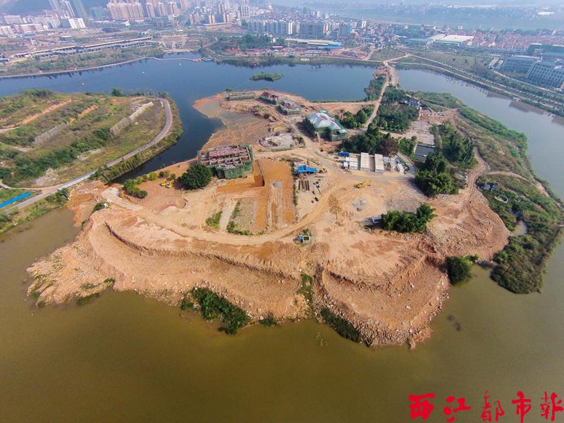 玫瑰湖湖心岛景观改造