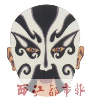 粤剧脸谱矢量图